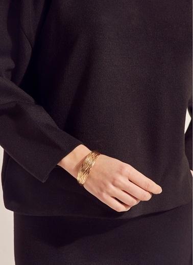 Monamoda Çoklu Kelepçe Bileklik Altın